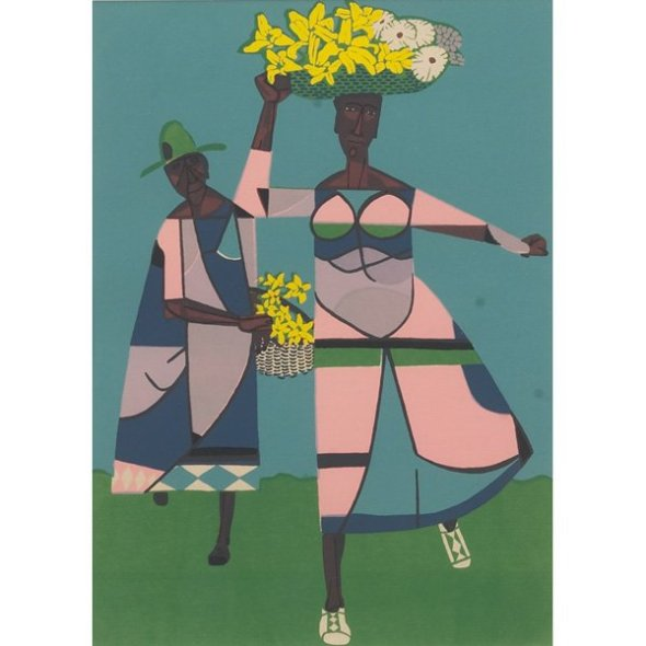 ROBERT GWATHMEY,  Flower Vendor, 1947