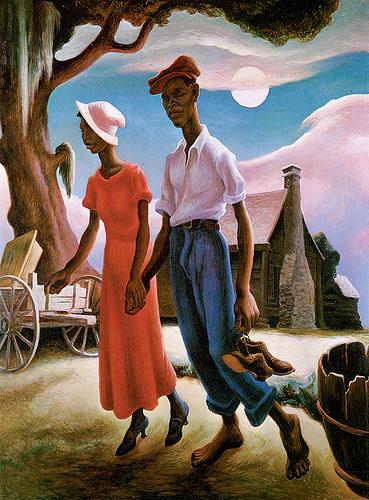 Thomas Hart Benton, Romance Blanton Museum Austin, Texas