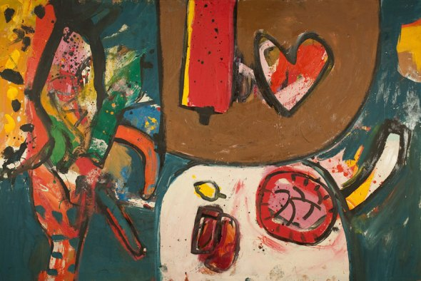 Alan Davie, 'My Heart for A Fruit, opus O.543A', May 1964, oil on board, 122 x 182 cms. From Gimpel Fils.