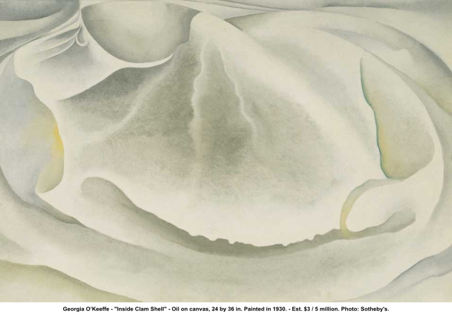 Georgia OKeeffe Inside Clam Shell, 1930