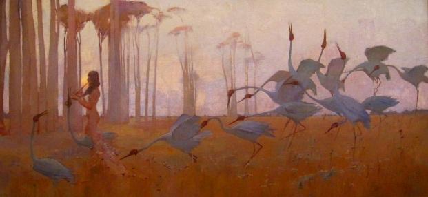 Sydney Long, Spirit of the Plains,1897, Art Gallery of Queensland, Sydney Austrailia