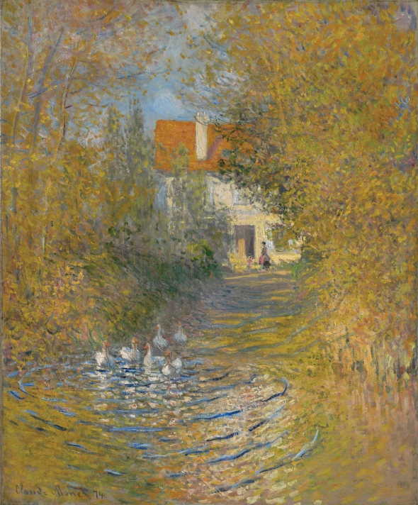 Claude Monet, Geese in the Brook, 1874. © Sterling and Francine Clark Art Institute