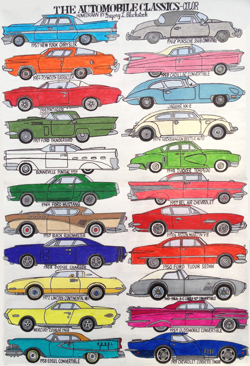 Gregory Blackstock,  Automobile Classics, 2011 Garde Rail Gallery Austin, TX