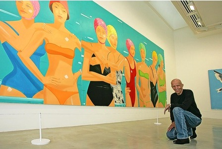 Alex Katz himself - see these at the Tate St. Ives right now