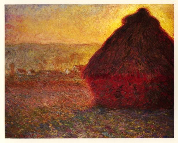Claude Monet, Haystack at Sunset, 1891