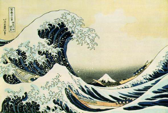 "Katsushika Hokusai, The Great Wave Off Kanagawa from ""Thirty-six Views of Mount Fuji""; 1823-29, Metropolitan Museum of Art, New York"