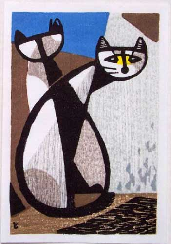 Inagaki Tomoo (1902-1980), Yellow Faced Cat