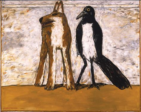 Gaylen Hansen, Dog and Magpie, 1989