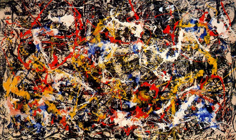 Jackson Pollock (1912-1956). Convergence, 1952. Albright-Knox Art Gallery, Buffalo, N.Y. © The Pollock-Krasner Foundation/Artists Rights Society (ARS), New York