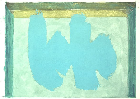 Robert Motherwell, Blue Elegy, 1987, National Gallery of Austrailia