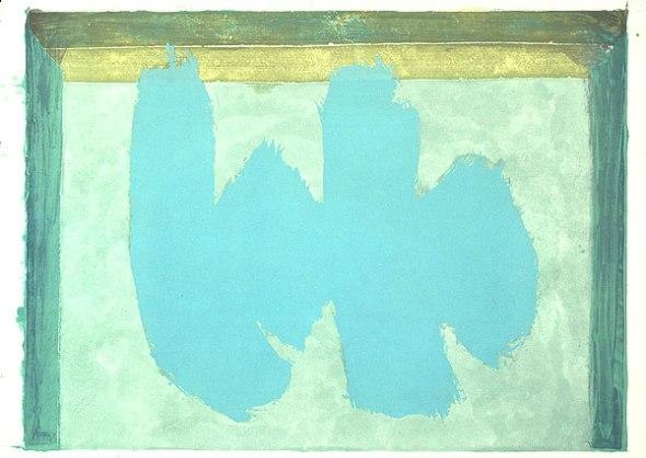 Robert Motherwell, Blue Elegy, 1987, National Gallery of Austrailia