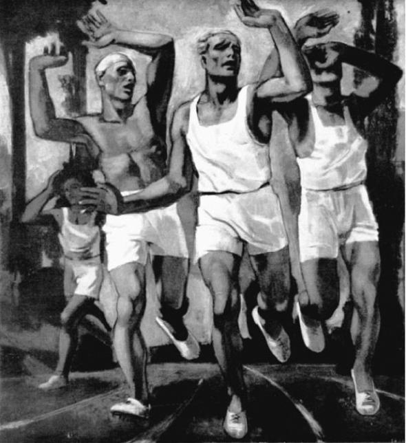 Rudolf Herman Eisenmenger, Runners at the Finish Line, Silver Medal 1936