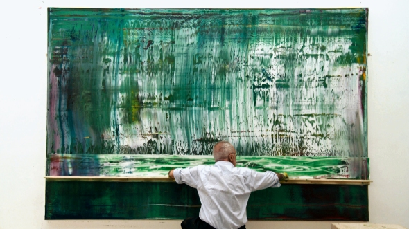 Gerhard Richter and squeege