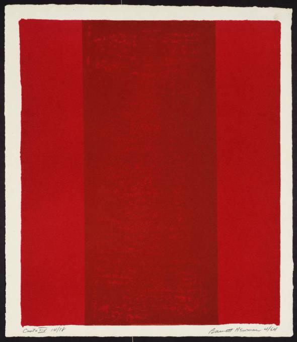 Canto XIV 1963-4 by Barnett Newman 1905-1970