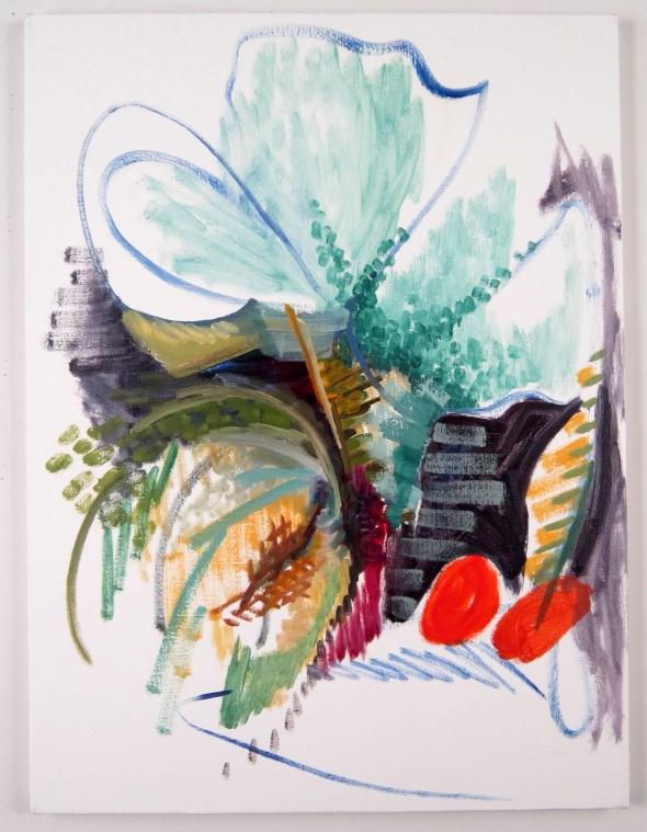 Melon 2, oil on canvas, 24 x1 8